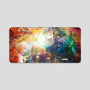 The Cat Galaxy Aluminum License Plate