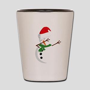 Dabbing Snowman Shot Glass