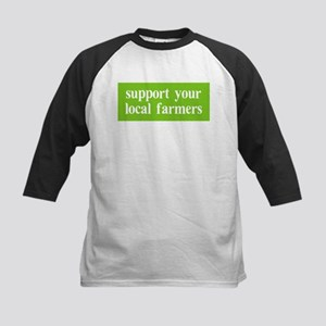 Support your local farmers Kids Baseball Jersey
