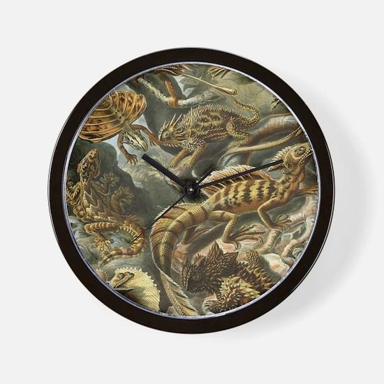 Vintage Lizards, Lacertilia Wall Clock
