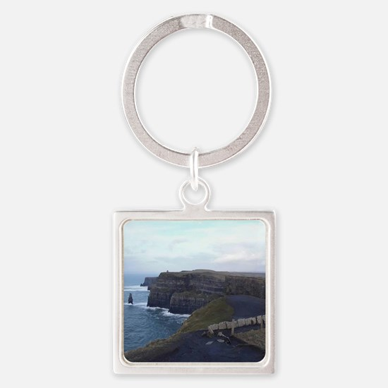 Cute Cliffs of moher Square Keychain