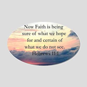 HEBREWS 11:1 20x12 Oval Wall Decal