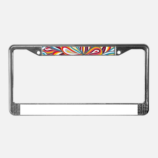 Flowers Bright License Plate Frame