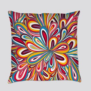 Flowers Bright Everyday Pillow