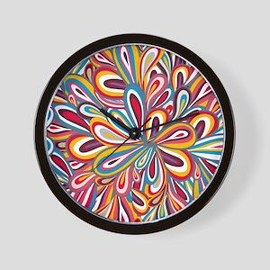 Flowers Bright Wall Clock