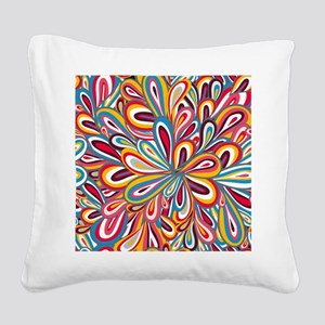 Flowers Bright Square Canvas Pillow