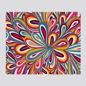 Flowers Bright Throw Blanket