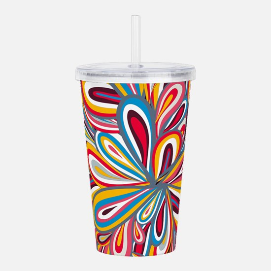 Flowers Bright Acrylic Double-wall Tumbler