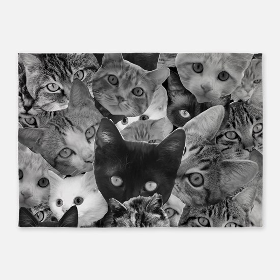 Kitty Collage 5'x7'Area Rug