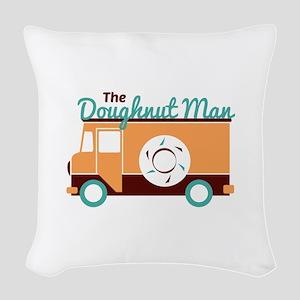 Doughnut Man Woven Throw Pillow