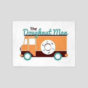 Doughnut Man 5'x7'Area Rug