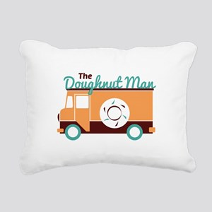 Doughnut Man Rectangular Canvas Pillow