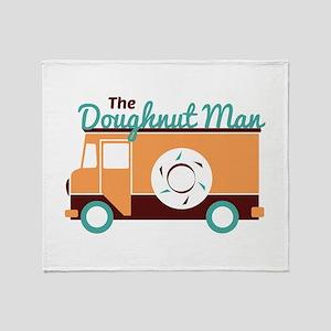 Doughnut Man Throw Blanket