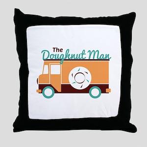 Doughnut Man Throw Pillow