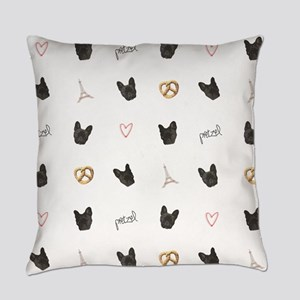 French Bulldog in Paris Everyday Pillow