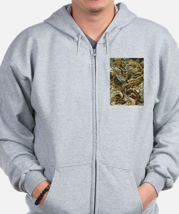 Vintage Lizards, Lacertilia Zip Hoodie