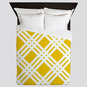 Yellow and White Gingham Queen Duvet