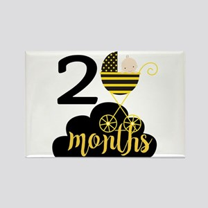 2 Months Monthly Milestone Rectangle Magnet