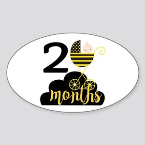 2 Months Monthly Milestone Sticker (Oval)