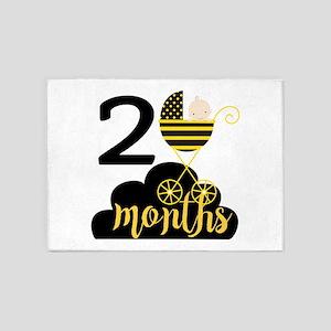 2 Months Monthly Milestone 5'x7'Area Rug