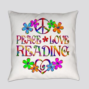 Peace Love Reading Everyday Pillow