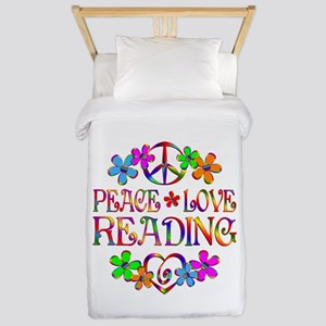 Peace Love Reading Twin Duvet