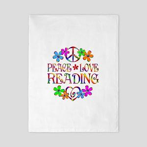 Peace Love Reading Twin Duvet