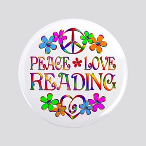 Peace Love Reading Button