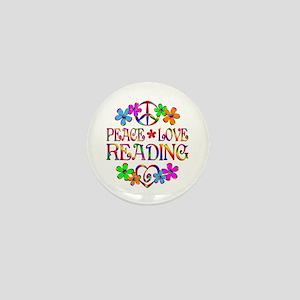 Peace Love Reading Mini Button