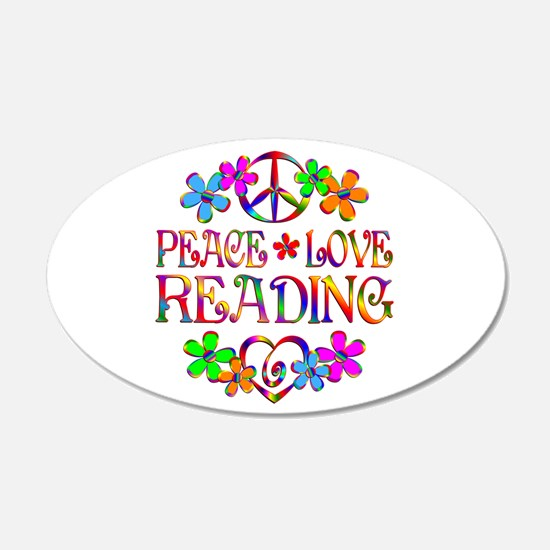 Peace Love Reading Wall Sticker