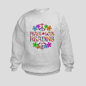 Peace Love Reading Kids Sweatshirt