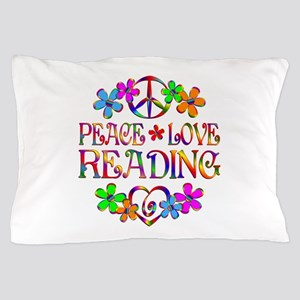 Peace Love Reading Pillow Case
