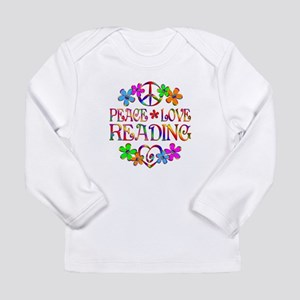 Peace Love Reading Long Sleeve Infant T-Shirt