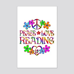 Peace Love Reading Mini Poster Print