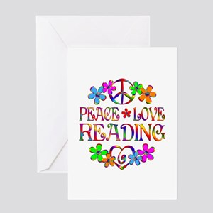Peace Love Reading Greeting Card
