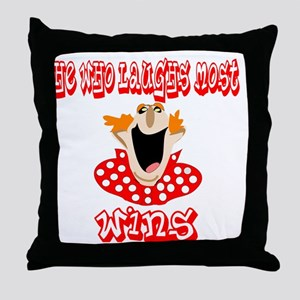 He who laughs Throw Pillow