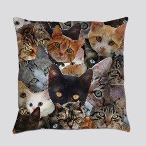 Kitty Collage Everyday Pillow