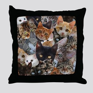 Kitty Collage Throw Pillow