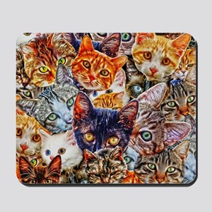 Kitty Cat Collage Mousepad