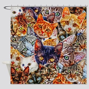 Kitty Cat Collage Shower Curtain