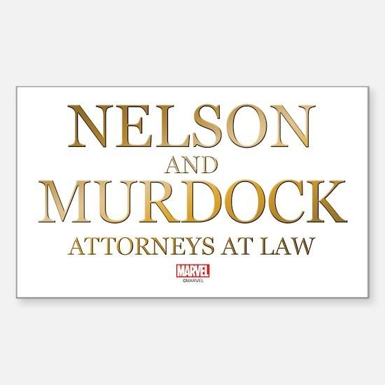 Daredevil Nelson and Murdock Sticker (Rectangle)