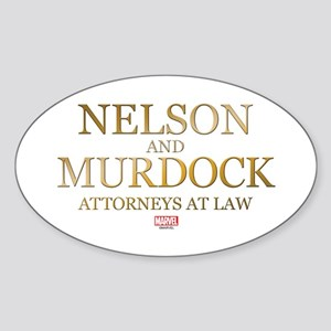 Daredevil Nelson and Murdock Sticker (Oval)