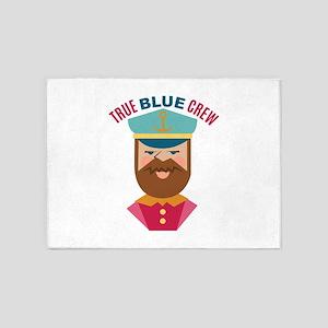 True Blue Crew 5'x7'Area Rug