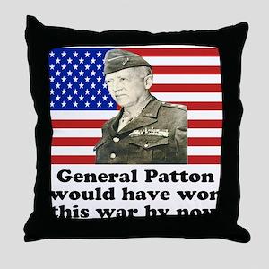 Patton Iraq Throw Pillow