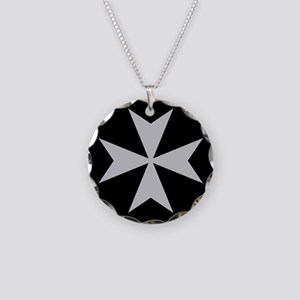 Silver Maltese Cross Necklace