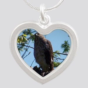 Hawk Silver Heart Necklace