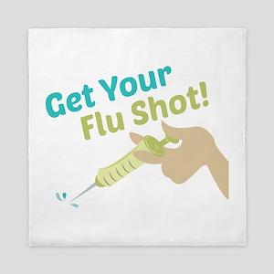Flu Shot Queen Duvet