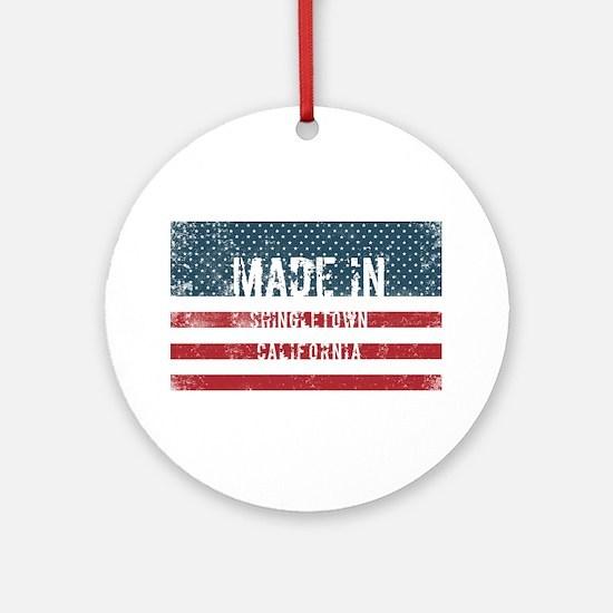 Made in Shingletown, California Round Ornament