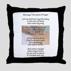 Massage Therapist's Prayer Throw Pillow