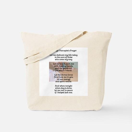 Massage Therapist's Prayer Tote Bag